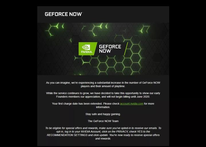 Nvidia, GeForce Now Founders üyelerinden Haziran'a kadar üyelik ücreti almayacak