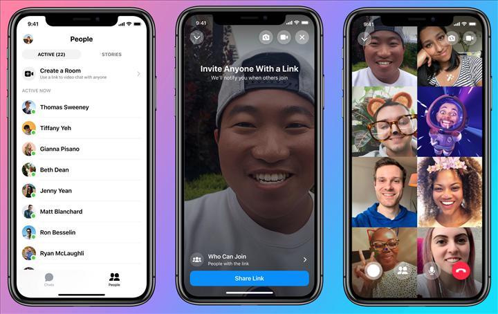 Facebook, süre sınırı olmaksızın50 kişiye kadar grup çağrısı yapılabilenMessenger Rooms'u tanıttı