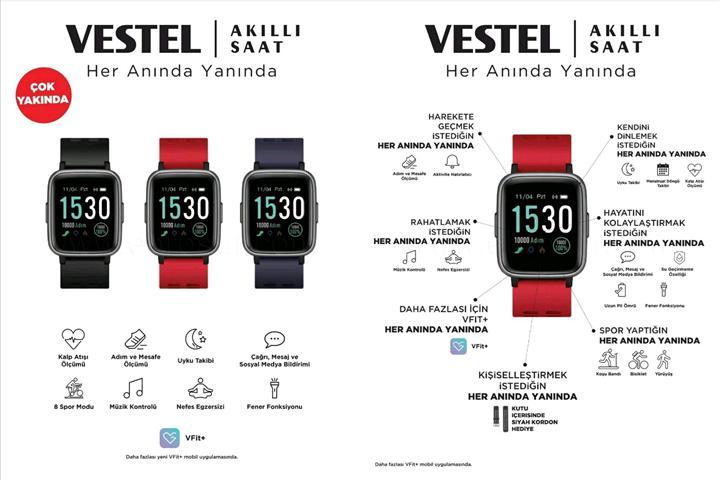 Vestel akıllı saati yakında piyasaya çıkıyor