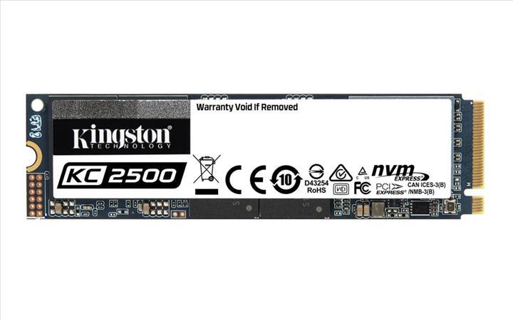 Kingston, 3500 MB/s'ye ulaşabilen KC 2500 NVMe SSD'lerini duyurdu