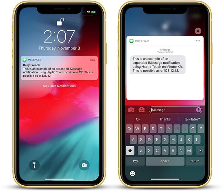 iPhone SE kilit ekranı bildirimlerinde Haptic Touch çalışmıyor