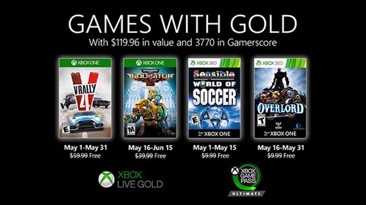 Xbox Live Gold Mayıs 2020 oyunları açıklandı