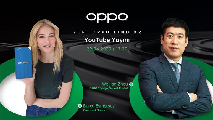 Oppo Find X2 Türkiye lansmanı için bugün saat 13.30'da canlı yayındayız