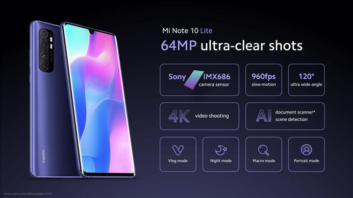 Xiaomi Mi Note 10 Lite tanıtıldı: İşte özellikleri ve fiyatı