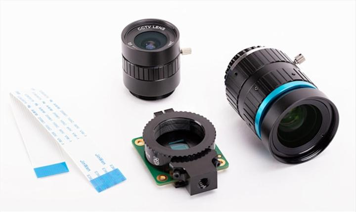 Raspberry Pi için değiştirilebilir lens desteği sunan kamera modülü duyuruldu