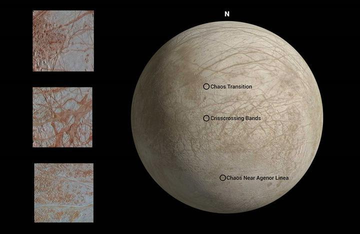 NASA, Jüpiter'in uydusu Europa'nın 90'lı yıllardaki görüntülerini yeniden işledi