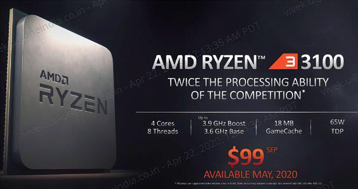 Ryzen 3 3100, Core i3-10100'le başa baş performans gösterebilir