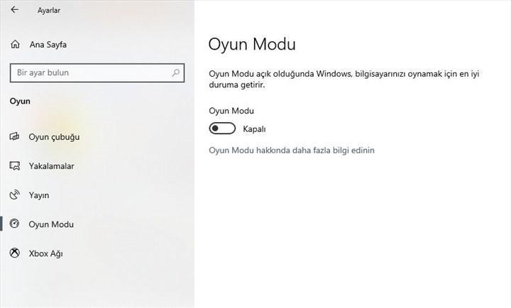 Windows 10'un oyun modu performans sorunlarına yol açıyor