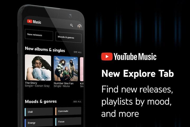 YouTube Music 'Keşfet' sekmesi Android ve iOS için kullanıma sunuldu