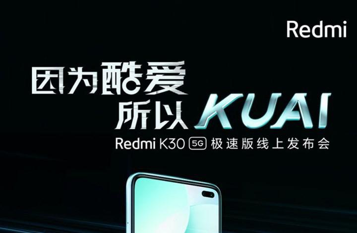 Xiaomi önümüzdeki hafta Redmi K30 5G Speed Edition'ı tanıtacak