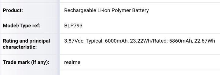 Realme'den 6.000 mAh bataryalı telefon geliyor