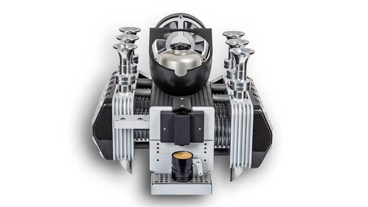 Porsche motorundan ilham alınarak espresso makinesi üretildi