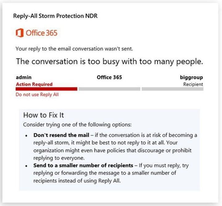 Microsoft, tümünü yanıtla fırtınalarını sonlandıracak