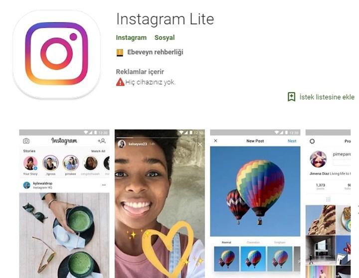 Instagram Lite uygulaması kapatıldı