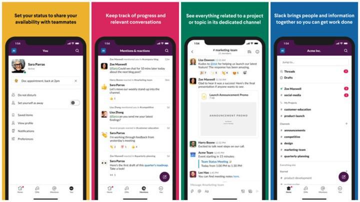 Slack'in yenilenen arayüzü iOS uygulamasına geldi