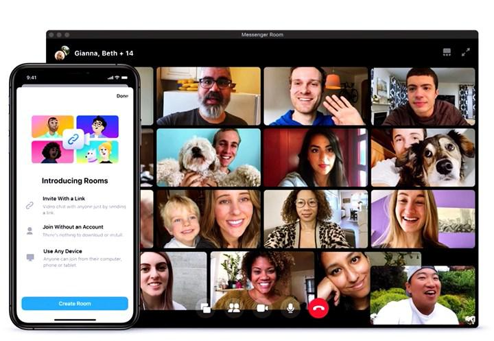 50 kişiye kadar görüntülü görüşme imkanı sunan Messenger Rooms kullanıma sunuldu