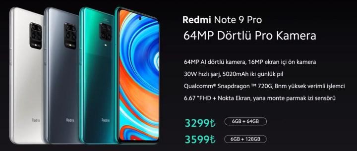 Redmi Note 9 Pro ve Mi Note 10 Lite'ın Türkiye fiyatı açıklandı
