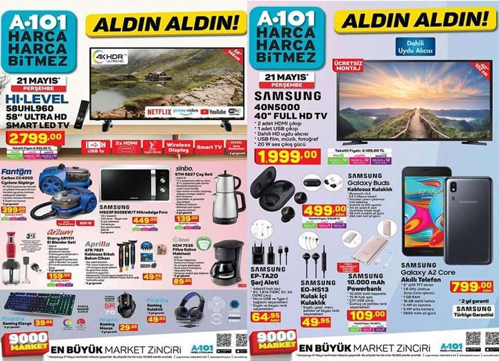 Haftaya A101 marketlerde uygun fiyata Galaxy Buds ve Samsung aksesuarları var