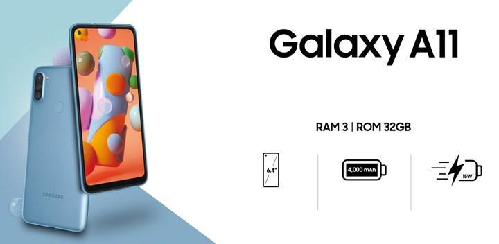 Samsung Galaxy A11'in fiyat etiketi belli oldu