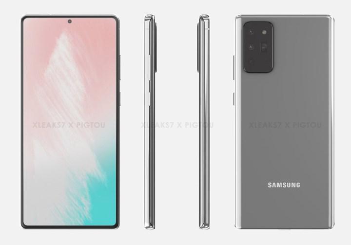 Samsung Galaxy Note 20'nin muhtemel tasarımı ortaya çıktı