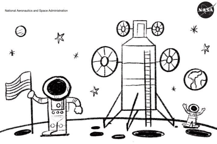 NASA çocuklar için boyama sayfaları hazırladı
