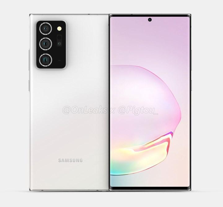 Samsung Galaxy Note 20 Plus'ın render görüntüleri ortaya çıktı