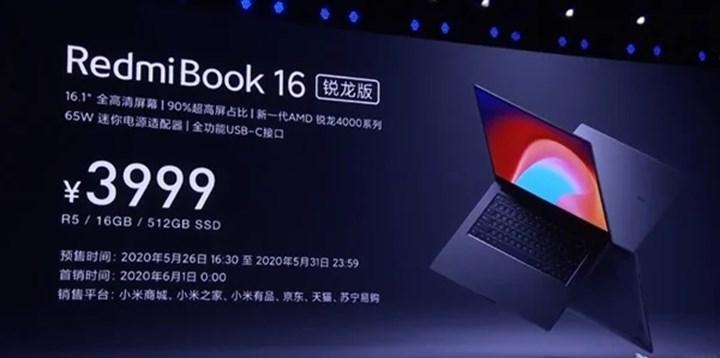 Xiaomi RedmiBook en yeni AMD Ryzen işlemcilerle güncellendi