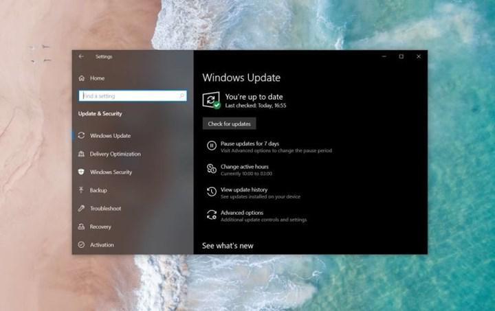 Windows 10'un