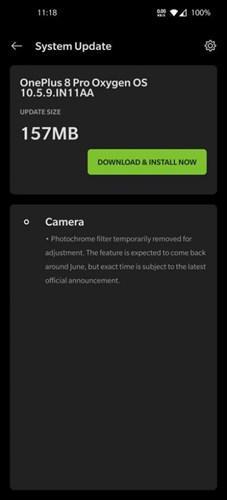 OnePlus 8 Pro'nun röntgen gibi çalışan Photochrome modu kaldırıldı
