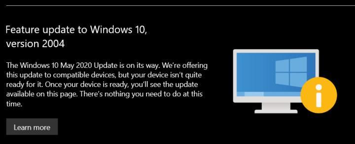 Microsoft, güncelleme bölümüne yükseltmesi engellenen cihazlar için uyarı ekledi