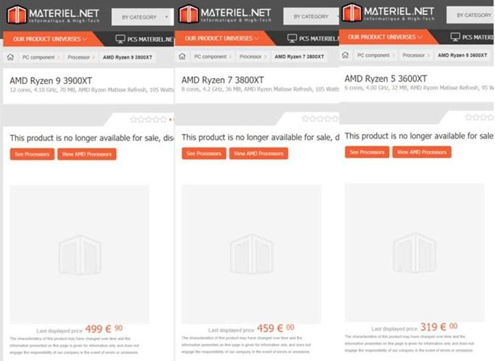 Ryzen 9 3900XT, Ryzen 7 3800XT ve Ryzen 5 3600XT'nin fiyatları gün yüzüne çıktı