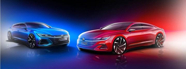 Makyajlı Volkswagen Arteon'un çizim görseli paylaşıldı: Tanıtım 24 Haziran'da