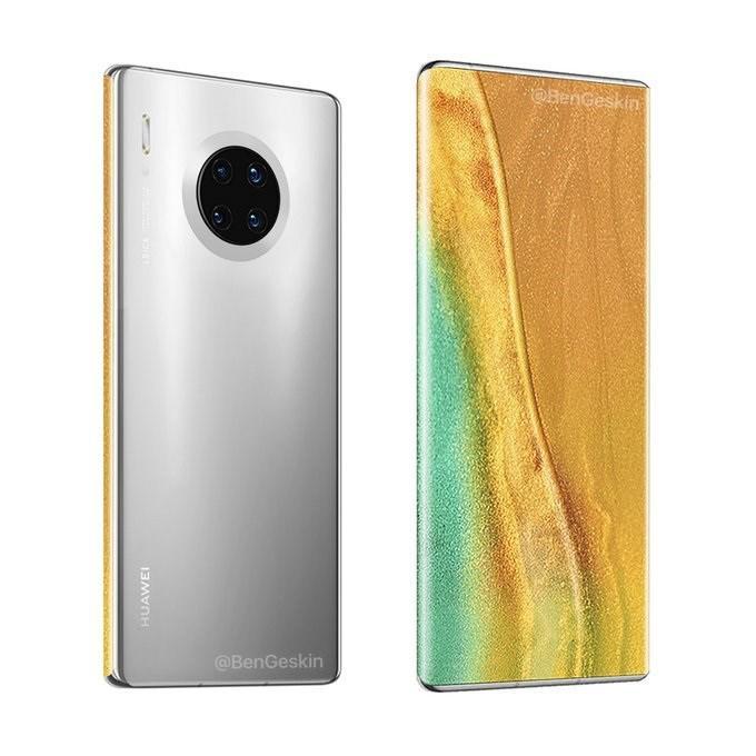 Huawei'nin ekran altı kameralı telefonunun tasarımı ortaya çıktı