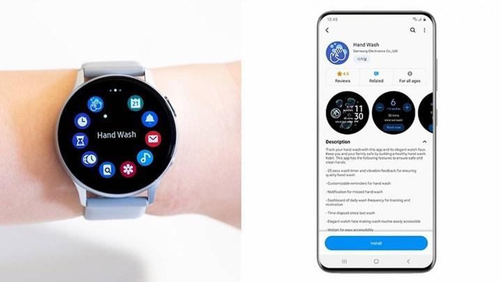 Samsung Hand Wash akıllı saat uygulaması el yıkamayı unutturmayacak