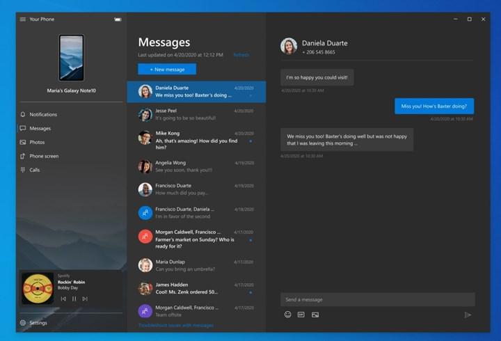 Microsoft'un yeni Telefonum uygulaması özelliği telefondaki müziği kontrol etmeye izin veriyor