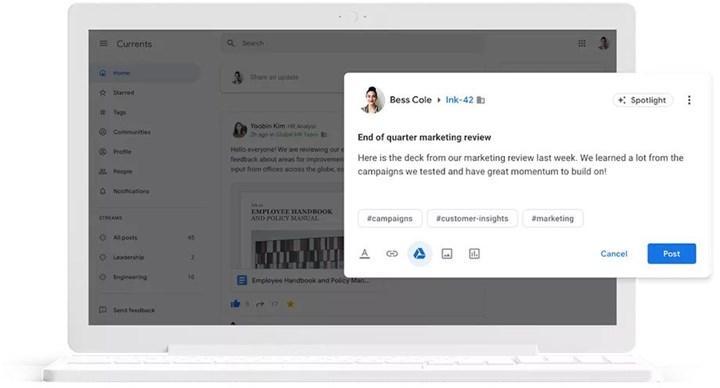 Google Plus'ın yerine gelecek Google Currents önümüzdeki ay başlatılacak