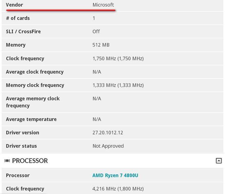 Yeni Surface cihazında Ryzen 7 4800U görebiliriz