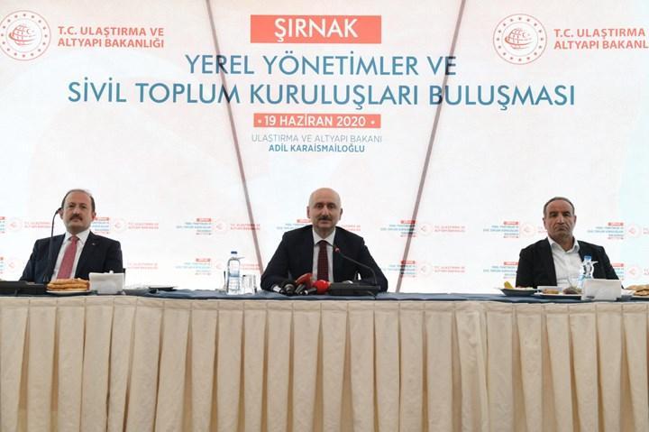 Ulaştırma Bakanı Karaismailoğlu, Şırnak'ta incelemelerde bulundu