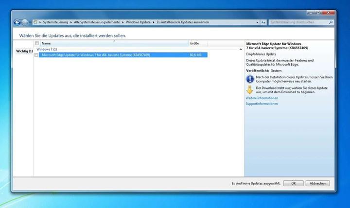 Microsoft, desteğini kestiği Windows 7 için Yeni Edge'i dağıtmaya başladı