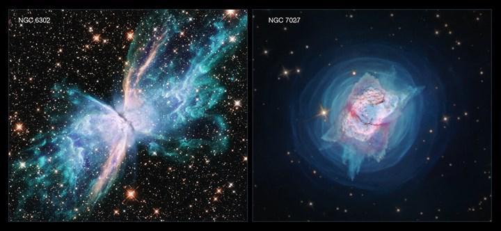 Hubble, iki devasa yıldızın 'muhteşem ölümünü' görüntüledi