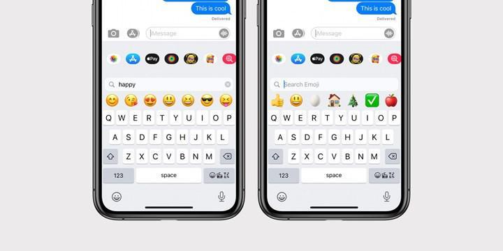 iOS 14 ve iPadOS 14 ile birlikte iPhone ve iPad klavyesine emoji araması eklendi