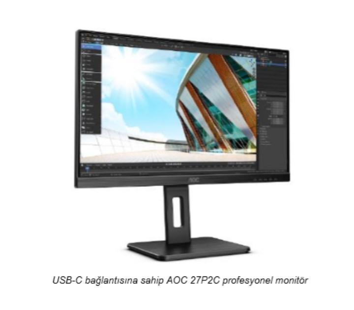 AOC, P2 serisinin on yeni modeli ile iş monitörü portföyünü genişletiyor