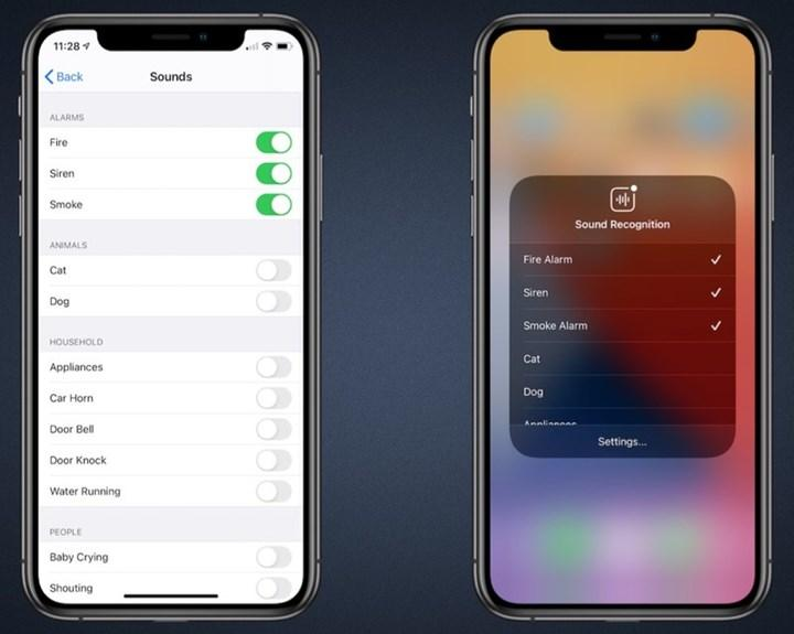 iOS 14, ses tanıma özelliğiyle alarm gibi önemli sesleri algılayarak kullanıcıları bilgilendirecek