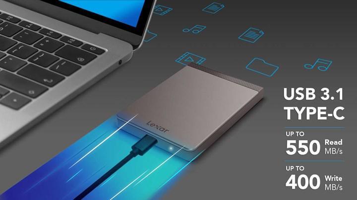 Lexar SL200 taşınabilir SSD'sini duyurdu
