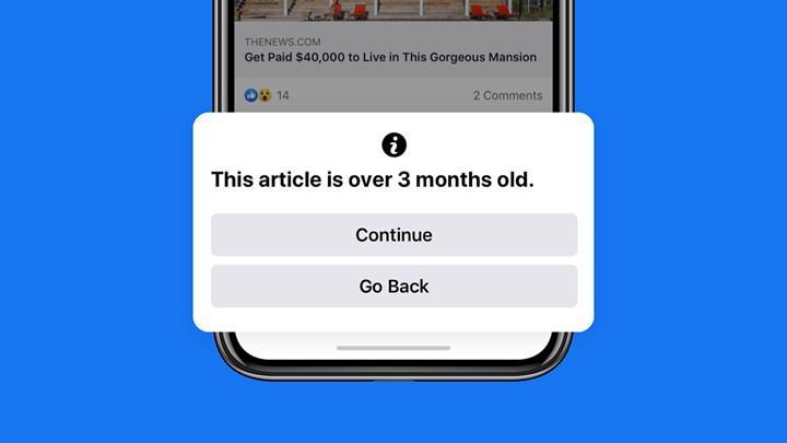 Facebook, eski haber paylaşan kullanıcıları uyaracak