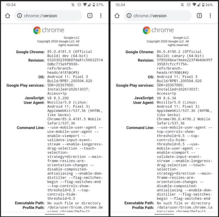 Google, Chrome'un Android versiyonunda 64 bit mimarisine geçiş yapıyor