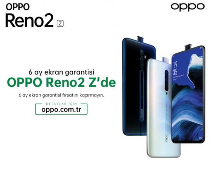 Oppo'dan 6 ay ekran kırılma garantisi