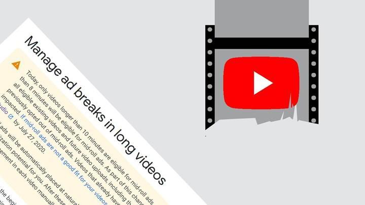 Video içi YouTube reklamları için 10 dakika sınırı aşağı çekildi