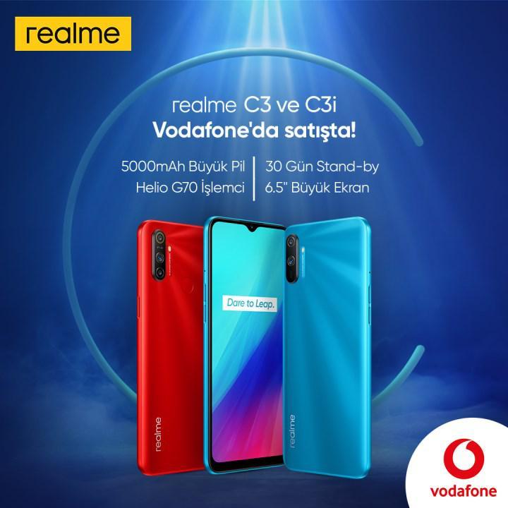 Realme C3 ve C3i Vodafone'da satışa çıktı