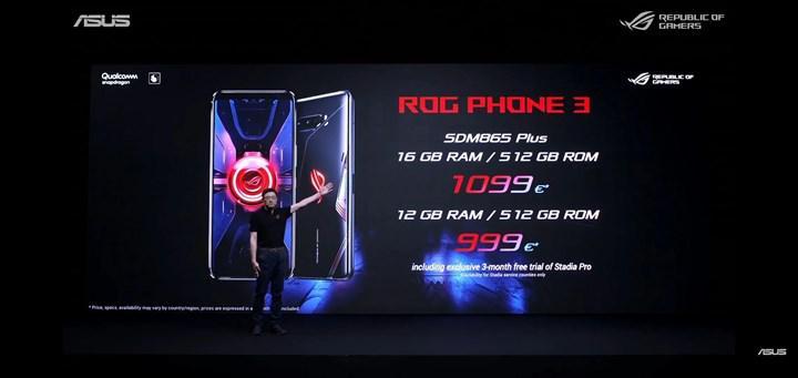 Snapdragon 865 Plus yonga setli ilk telefon Asus ROG Phone 3 oldu